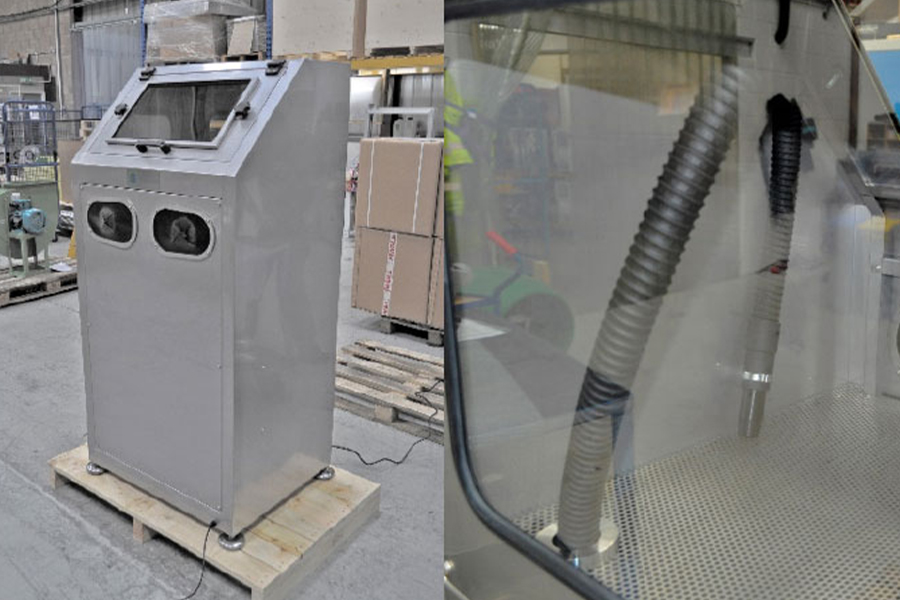 JetBlack in a Box – Enclosed system design for cleaning components.