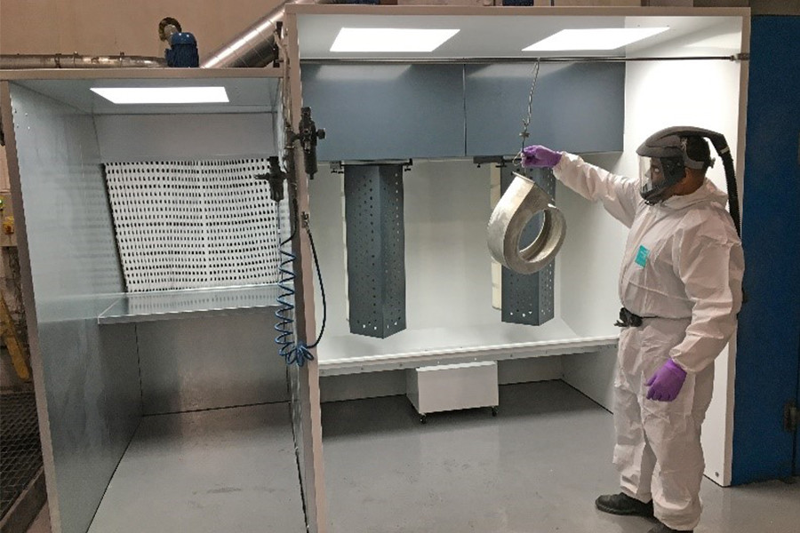 ACI install new powder and wet paint spray booth